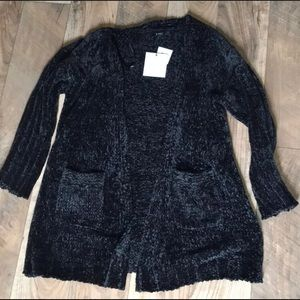 Very J soft oversized chenille cardigan